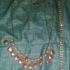 Jewelry - Vintage drop necklace. & bracelet